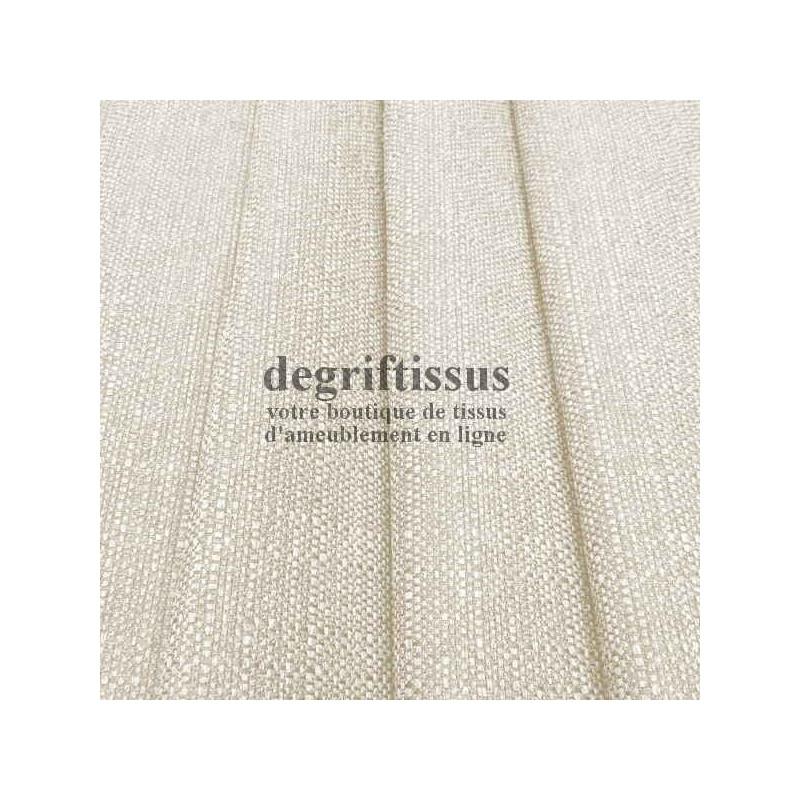 Lin écru texturé DT Dégriftissus vous propose ce tissu d'ameublement imitation lin texturé, pour chaises, fauteuils, tête de li