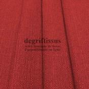 Lin rouge texturé DT Dégriftissus vous propose ce tissu d'ameublement imitation lin texturé, pour chaises, fauteuils, tête de li