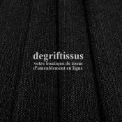 Lin noir texturé DT Dégriftissus vous propose ce tissu d'ameublement imitation lin texturé, pour chaises, fauteuils, tête de li