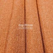 Lin orange texturé DT Dégriftissus vous propose ce tissu d'ameublement imitation lin texturé, pour chaises, fauteuils, tête de l