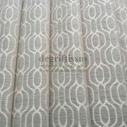 Dégriftissus vous propose ce tissu d'ameublement velours mixte avec motifs alcôves tissés, pour réaliser vos sièges, fauteuils,