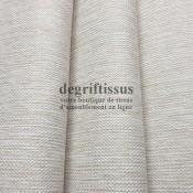 Tissu d'ameublement beige écru - intérieur extérieur résistant soleil - degriftissus.com