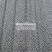 Tissu d'ameublement art déco - motifs bleus marines - épais - siège - rideau - coussin - degriftissus.com