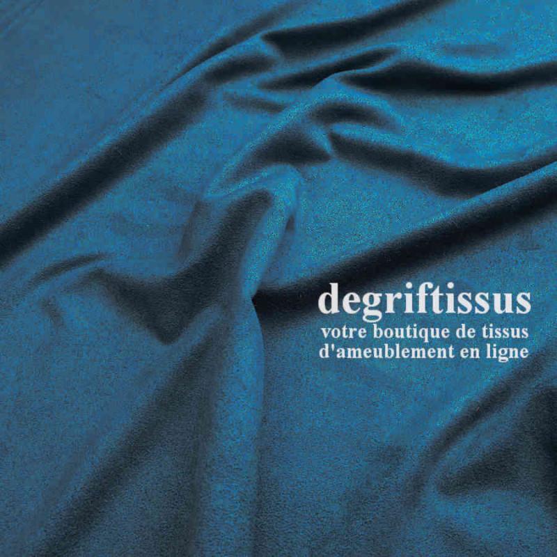 Tissu d'ameublement - Daim suédine bleu canard - pour fauteuil - canapé - banquette - chaise - tête de lit - degriftissus.com