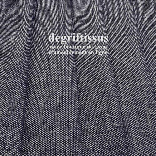 Tissu d'ameublement - nuances de bleu et écru - épais - siège - fauteuil - coussin - degriftissus.com