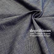 Tissu d'ameublement - avec nuances de bleu et écru - épais structuré - siège - fauteuil - coussin - degriftissus.com