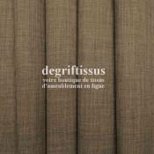 Tissus ameublement - Imitation lin anti-tache chocolat clair - pour siège fauteuil - coussin - rideau - nappe - degriftissus.com