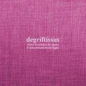 Tissus ameublement - Imitation lin anti-tache rose - pour siège - fauteuil - coussin - rideau - nappe - degriftissus.com