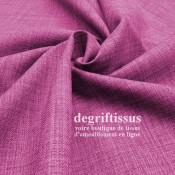 Tissus ameublement - Imitation lin anti-tache rose - siège - fauteuil - coussin - rideau - nappe - degriftissus.com