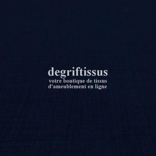 Tissus ameublement - Imitation lin anti-tache noir - siège - fauteuil - coussin - rideau - nappe - degriftissus.com