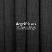 Tissus ameublement - Imitation lin anti-tache gris foncé - pour siège - fauteuil - coussin - rideau - nappe - degriftissus.com