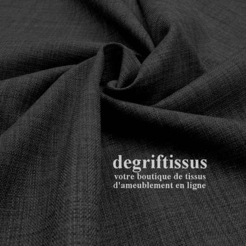 Tissus ameublement - Imitation lin anti-tache gris foncé - siège - fauteuil - coussin - rideau - nappe - degriftissus.com