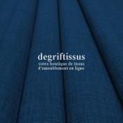 Tissus ameublement - Imitation lin anti-tache bleu nuit - pour siège - fauteuil - coussin - rideau - nappe - degriftissus.com