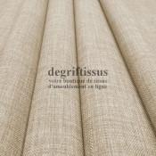 Tissus ameublement - Imitation lin anti-tache beige - pour siège - fauteuil - coussin - rideau - nappe - degriftissus.com