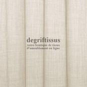 Tissus ameublement - Imitation lin anti-tache écru - pour siège - fauteuil - coussin - rideau - nappe - degriftissus.com