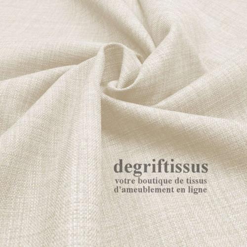 Tissus ameublement - Imitation lin anti-tache écru - siège - fauteuil - coussin - rideau - nappe - degriftissus.com