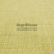 Tissus ameublement - Imitation lin anti-tache vert tilleul - pour siège - fauteuil - coussin - rideau - nappe - degriftissus.com