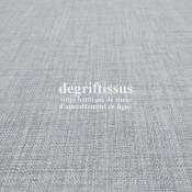 Tissus ameublement - Imitation lin anti-tache gris perle - pour siège - fauteuil - coussin - rideau - nappe - degriftissus.com