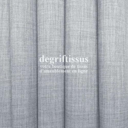Tissus ameublement - Imitation lin anti-tache gris perle - siège - fauteuil - coussin - rideau - nappe - degriftissus.com
