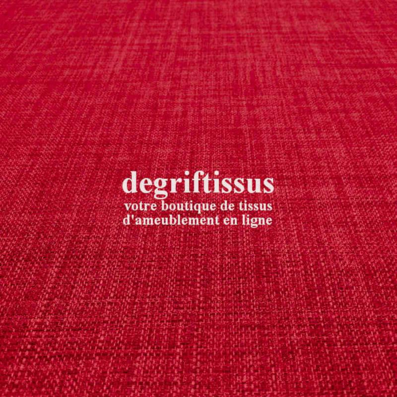Tissus ameublement - Imitation lin anti-tache rouge - pour siège fauteuil - coussin - rideau - nappe - degriftissus.com
