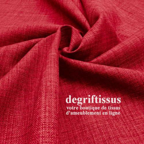 Tissus ameublement - Imitation lin anti-tache rouge - siège fauteuil - coussin - rideau - nappe - degriftissus.com