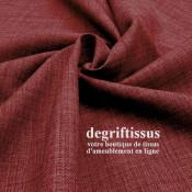 Tissus ameublement - Imitation lin anti-tache bordeaux - siège - fauteuil - coussin - rideau - nappe - degriftissus.com