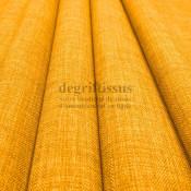 Tissus ameublement - Imitation lin anti-tache jaune - pour siège - fauteuil - coussin - rideau - nappe - degriftissus.com