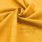 Tissus ameublement - Imitation lin anti-tache jaune - siège - fauteuil - coussin - rideau - nappe - degriftissus.com