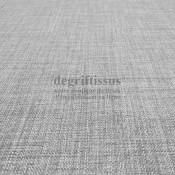 Tissus ameublement - Imitation lin anti-tache gris - siège - fauteuil - coussin - rideau - nappe - degriftissus.com