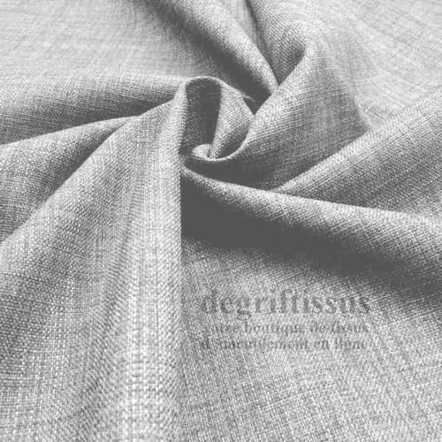Tissus ameublement - Imitation lin anti-tache gris - pour siège - fauteuil - coussin - rideau - nappe - degriftissus.com