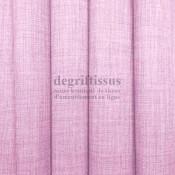 Tissus ameublement - Imitation lin anti-tache- rose buvard - pour siège - fauteuil - coussin - rideau - nappe - degriftissus.com