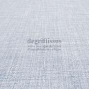 Tissus ameublement - Imitation lin anti-tache - bleu glacier - siège - fauteuil - coussin - rideau - nappe - degriftissus.com