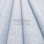 Tissus ameublement - Imitation lin anti-tache bleu glacier - pour siège - fauteuil - coussin - rideau - nappe - degriftissus.com
