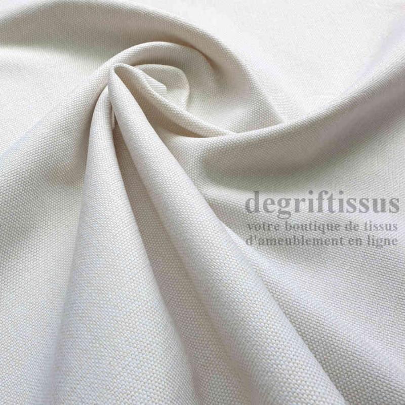 Tissu d'ameublement - grain plat écru - intérieur extérieur - résistant soleil et météo - tout usage - degriftissus.com