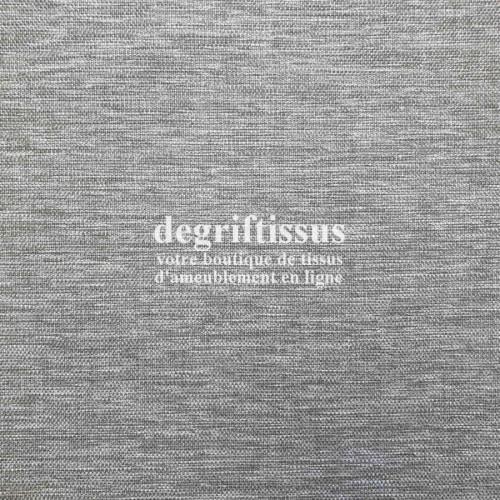 Tissu d'ameublement - grain plat gris chiné - intérieur extérieur résistant soleil - degriftissus.com