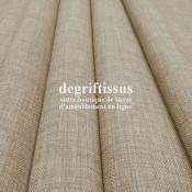 Tissus ameublement - Imitation lin anti-tache beige naturel - pour siège fauteuil - coussin - rideau - nappe - degriftissus.com