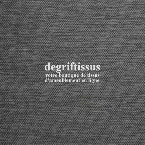 Tissu d'ameublement - texturé Gris foncé - intérieur extérieur résistant soleil - degriftissus.com