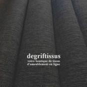 Tissu d'ameublement - grain plat gris foncé chiné - intérieur extérieur résistant soleil - degriftissus.com