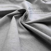 Tissu d'ameublement - grain plat gris clair - intérieur extérieur résistant soleil - degriftissus.com