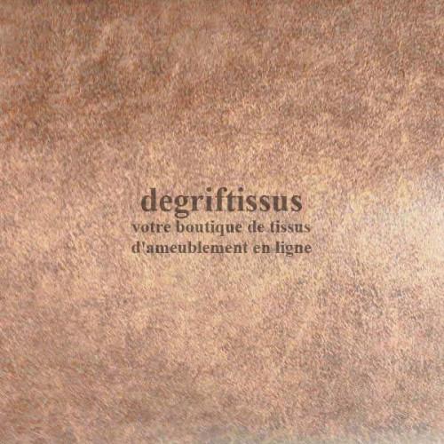 Tissu d'ameublement - cuir vieilli fauve doublé toile - Dégrif' tissus