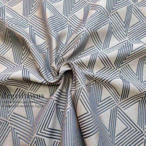 Tissu ameublement Art Déco - Tissu d'ameublement tissé Jacquard - degriftissus.com