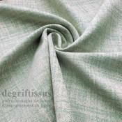Tissu ameublement tissé Jacquard, hachuré vert lagon - siège - chaise - fauteuil - canapé - double rideau - degriftissus.com