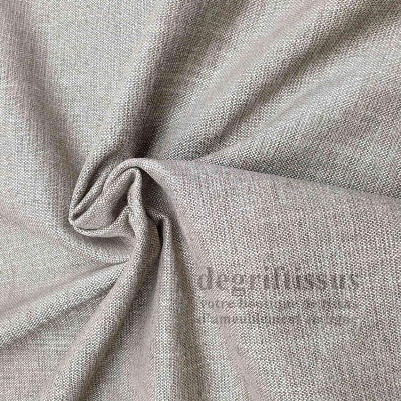 Tissu d'ameublement - avec nuances de beiges - épais structuré - degriftissus.com