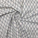 Tissu Art Déco écru