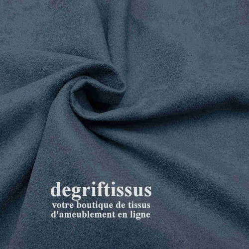 Tissu ameublement - Daim suédine bleu pétrole - pour fauteuil - canapé - banquette - chaise - tête de lit - degriftissus.com