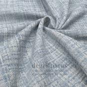Tissu ameublement tissé Jacquard, hachuré bleu ciel - siège - chaise - fauteuil - canapé - double rideau - degriftissus.com