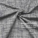 Tissu hachuré gris bleuté