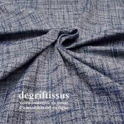 Tissu ameublement tissé Jacquard, hachuré bleu marine - siège - chaise - fauteuil - canapé - double rideau - degriftissus.com