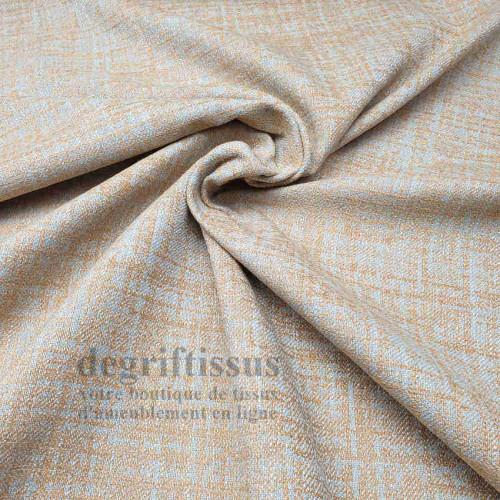 Tissu ameublement tissé Jacquard, hachuré jaune paille - siège - chaise - fauteuil - canapé - double rideau - degriftissus.com