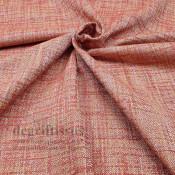 Tissu ameublement tissé Jacquard, hachuré brique - siège - chaise - fauteuil - canapé - double rideau - degriftissus.com
